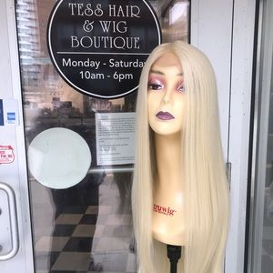 Long blonde wig sale human hair Blende 30+ Long